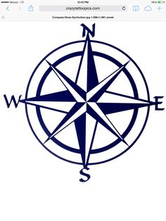 Compass rose, but in metallic gold