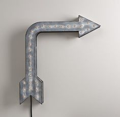 Vintage Illuminated Arrow- I realize this is a splurge... but wowza! I bet these will go on sale by Christmas!