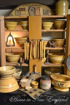 Maria's wonderful yellowware collection