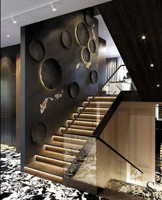 Amazing Luxury Interior Design That Will Make Your Home Inspiration Decoration Modern Staircase Amazing decoration design Home Inspiration interior Luxury Home Stairs Design, Interior Stairs, Loft Design, Modern House Design, Staircase Design Modern, Stair Design, Interior Exterior, Design Design, Staircase Wall Decor