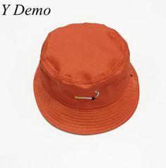 633bdc7993876 2017 Orange Harajuku Embroidery Cigarette Bucket Hat Women Cute Hat  Y Demo   Bucket Hats