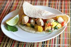 Fish tacos with mango pineapple salsa :: this looks awesome and easy.