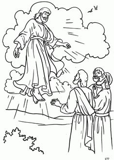 The Ascension Catholic Coloring Page   Pentecost