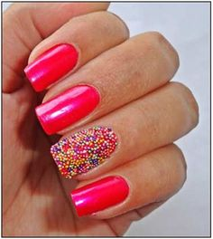 Beads/ Caviar Nail Art – Step By Step Tutorial With Pictures