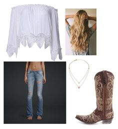 cowgirl by saraiwilliams-sock on Polyvore featuring polyvore fashion style Michael Kors Hollister Co. clothing