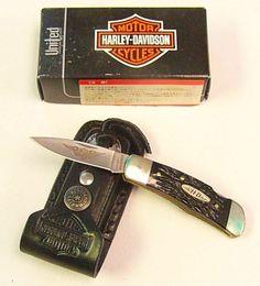 united cutlery hd3 harley davidson small lockback knife   me & my