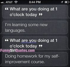 Siri, what's your schedule?