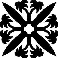 Hawaiian Quilt Tile 50 : HaoleKid