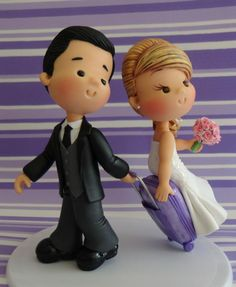 Porcelana Fría - Cold Porcelain - Wedding - Bride & Groom