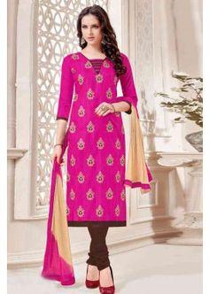 couleur rose soie bhagalpuri costume churidar, -  54,00 €,  #Robeindienne  #Salwarkameezmariage  #Salwarkameezfemme  #Shopkund