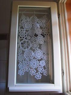 Doily curtains  #crochet
