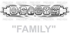 FAMILY Mayan Glyphs Tattoo Design C » ₪ AZTEC TATTOOS ₪ Aztec Mayan Inca Tattoo Designs Instant Download