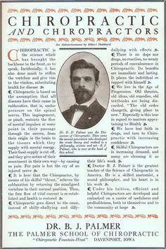 Dr B J Palmer School of Chiropractic Portrait in RARE 1914 Ad Davenport Iowa