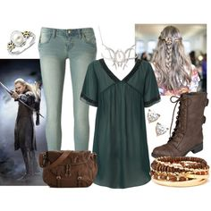 """""""Wood Elf Casual"""" by anconway on Polyvore"""