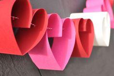 valentine's garland idea