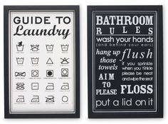 Bathroom Signs Next next - guide to laundry canvas bin | laundry room | pinterest