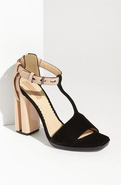 Reed Krakoff T-Strap Sandal. Fascinating. Not sure if I like them or not.