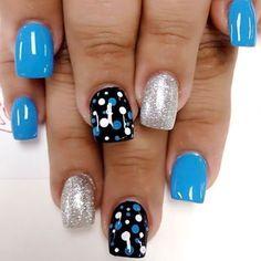 Best Nail Designs - 75 Trending Nail Designs for 2018 - Best Nail Art Fancy Nails, Diy Nails, Cute Nails, Pretty Nails, Manicure Ideas, Gel Nail Art Designs, Nail Designs Spring, Cute Nail Designs, Spring Nail Art