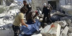 Syria airstrikes kill 17, mostly children, outside school