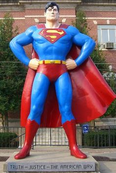 "The city of Metropolis, Ill. has called itself the ""Home of Superman"" for nearly 40 years. Visitors to Metropolis will find no shortage of Superman memorabilia, souvenirs and other Superman mentions. Several street names have been changed to a Superman theme, such as Superman Square and Lois Lane and even the city's weekly newspaper is called the Metropolis Planet. Standing tall over the Metropolis business district is a bronze statue of none other than Superman himself -- 15 feet and 4,000 poun"