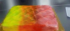 This amazing cake turns colors when you rotate it