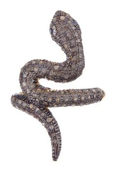 Champagne Diamond & Sapphire Snake Ring