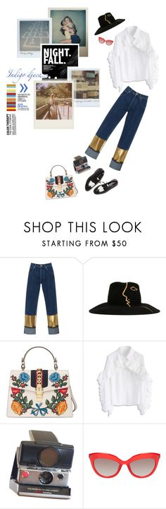 """""""Hollywood Forever."""" by bianca ❤ liked on Polyvore featuring Loewe, Céline Robert, Gucci, Chicwish, Polaroid, Band of Outsiders and Fergie"""