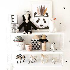 Minimel French illustrator panda print www.foreverwildchildstore.com #foreverwildchildstore.com