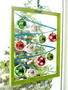 Christmas Hanging Windows Display