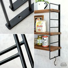 MOLIS シェルフブラケット 棚受け アイアンブラケット | ゼネラルストア オルネ Welding Crafts, Magazine Rack, House Plans, Iron, Shelves, Cabinet, How To Plan, Storage, Houses