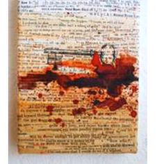 Strips of book pages onto canvas. Could coffee stain them different shades. I like the printed key. Play with symbols. Diy Artwork, Coffee Staining, Diy Canvas, Book Pages, Making Out, Book Art, Upcycle, Mixed Media, Diy Crafts