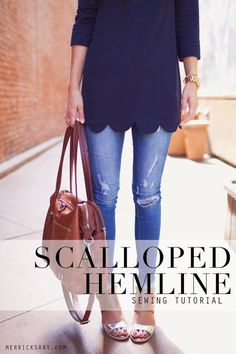 Merrick's Art // Style + Sewing for the Everyday Girl : DIY FRIDAY: SCALLOPED HEMLINE REFASHION