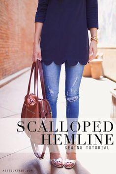 Merrick's Art // Style + Sewing for the Everyday Girl : DIY FRIDAY: SCALLOPED HEMLINE REFASHION