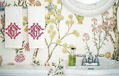 Lightfoot Waverly Wallpaper - so cute!
