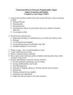 Easy ways to increase proprioceptive input in the classroom.
