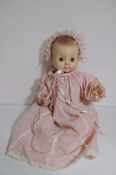 1969 Vintage Effanbee baby doll 16 tall 9469 Sleepy eyes Free US Shipping Effanbee Dolls, Sleepy Eyes, Us Shipping, Baby Dolls, Bears, Flower Girl Dresses, Wedding Dresses, Amp, Free
