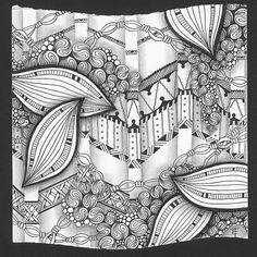 """Emily Perkins   Tangle Art (for Diva's Challenge #109)  Diva's Challenge. (5"""" x 5"""") view on blog at emilyhoutz.blogspot.com/2013/03/divas-challenge-109.html"""