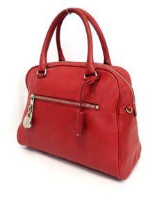 Michael Kors Knox Large Red Leather Satchel Handbag