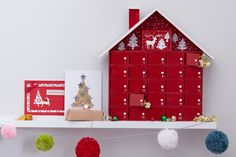 Scandi is a massive trend for Christmas again this year, so why not use it on your advent calendar? This beautiful scandi advent house will take pride of place on your mantelpiece and become part of your Christmas decor! Christmas Candles, Christmas Gift Tags, Christmas Countdown, Christmas Crafts, Christmas Ideas, Christmas Stuff, Christmas Stockings, Wooden House Advent Calendar, Advent House