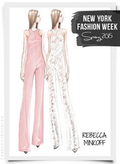 Fabulous Doodles Fashion Illustration blog by Brooke Hagel: NYFW Designer Sketches Spring 2015 (Part 1)