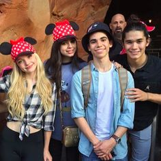 The cast of descendants in Disney land