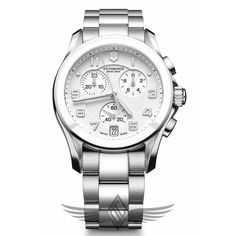 Victorinox Swiss Army Chrono Classic 41mm Steel Watch 241538 - #OCWatchCompany #SwissArmy #WatchStore #WalnutCreek