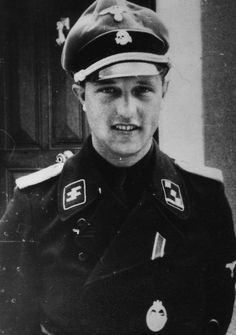 SS-Obersturmführer Horst Gresiak photographed in 1943, was a tank commander in Das Reich Division when the division was reorganized as a Panzergrenadier Division during the latter part of 1942. Later in the war, he won the Knight's Cross while commanding a tank company during the Ardennes Offensive.