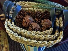 These pine cones are perfect for adding an organic look to fall & holiday decor. — at Sister Bay Trading Co.