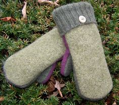 pattern to make felted wool mittens from sweaters