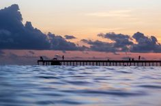 Maldive / Sunset in the water