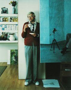 Arnold Newman, David Hockney, London,1978