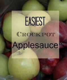 The Easiest Crockpot Applesauce. Ever. (Can it)