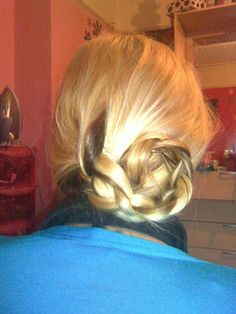 simple plait updo