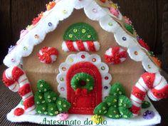 casinha guloseimas Natal em feltro
